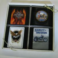 Mororcycles Bike Collector Card Drink Coaster Set - 4 Coasters - Great Gift