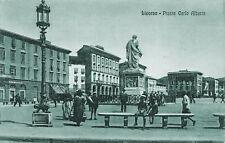 1883) LIVORNO, PIAZZA CARLO ALBERTO, ANIMATA. VIAGGIATA IL 19/12/1923.