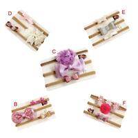 3Pcs/Set Baby Girl Lovely Bow Flower Elastic Headband Headwear Hair Accessories