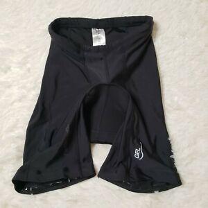 Louis Garneau Men's Gel Black Cycling Shorts 9D50213 Size Medium
