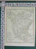 C1840 Victoriano Mapa ~ Norte América ~ Estados Unidos Británico Territory