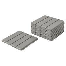 IKEA Runnen Outdoor Decking Light Grey 9 Sq Feet, 9 Tiles