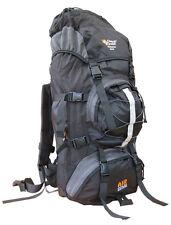 Travel Rucksack Bag Bergen Day Back Pack Backpack + Rain Waterproof Cover Black