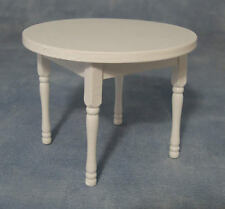 White Round Table. DOLLS HOUSE miniatura LIVING / salotto / sala da pranzo