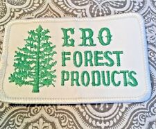 """ERO Forest Products Embroidered Patch Movie Prop 3 1/2"""" x 2 1/4"""" #149"""