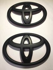 Set of Front and Rear Toyota 86 Matte Black Badge For Toyota 86 2012 ~ 2016