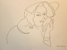 Henri Matisse Lithograph Drawing / Dessins I9 Limited First Edition 1943 Rare