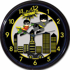 Batman & Robin Super Heroes Gotham DC Batmobile Wall Clock Classic Comics New