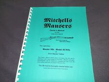 MITCHELL'S MAUSERS, MAUSER 98K MODEL 48 RIFLE,  INSTRUCTION MANUAL,   15 Pages