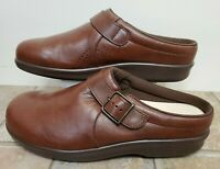 SAS Women Shoes Clog Brown Leather 9.5 W Worn Once