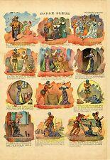 """""""BARBE-BLEUE"""" IMAGERIE QUANTIN originale entoilée Série 16 n°7 EDYCK (1900)"""