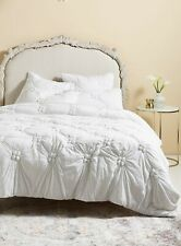 New Anthropologie Jacqueline Jersey Quilt California King- White