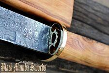 "BMK-301 WHITE DRAGON SWORD 32″ Long 22″Blade""35oz Damascus SAMURAI NINJA KATANA"