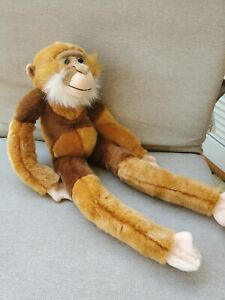 """Animal Alley Toy R Us Monkey Brown Hanging Long Arms Legs 23"""" Plush Stuffed 2000"""
