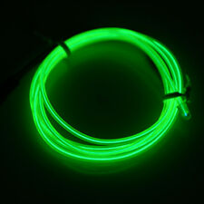 3M LED Light El Wire Cold Strip Car Decor 12V Light Green Cigarette with Lighter