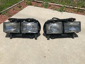 1981-1991 Rolls Royce Silver Spur Spirit OEM Left & Right Head Light Assembles