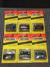 NIB Lot of 6 Matchbox Super World Class Complete 11790 Viper, Camaro, Mazda Etc.