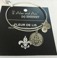 ALEX AND ANI Silver Alex and Ani Fleur de Lis Silver Charm Bracelet Energy W BOX