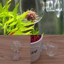 Aquarium Tank Glass Bubble Plant Crystal Fish Feeding Feeder Glass Cup Basin New