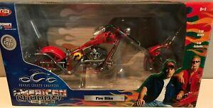RC Ertl Joy Ride Orange County Choppers Fire Bike 1:10 Scale - NIB