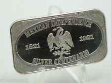 USSC 1973 MEXICAN INDEPENDENCE SILVER CENTENARIO 1821 TO 1921 NATION SYMBOL BAR