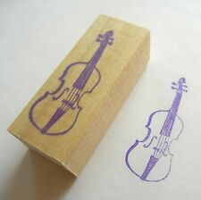 Musical Instrument Rubber Stamp - Violin