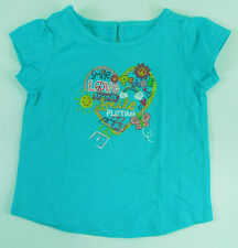 Wonderkids, 18Mo., Aqua, Heart Short Sleeve Top, New without Tags