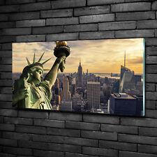 Glas-Bild Wandbilder Druck auf Glas 100x50 Sehenswürdigkeiten Freiheitsstatue