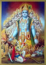 Krishna Viraat Avatar in Mabaharata * Geeta Updesh to Arjun - POSTER (20x28)