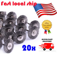 20pc Stainless Steel Wire Wheel Brushes Polishing Cleaner Power Rotary Tool