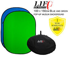 100x150cm Blue & Green Chroma Key Matt Collapsible Background Chromakey Backdrop