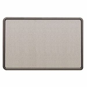 "Quartet Contour Fabric Board - 24"" Height X 36"" Width - Gray Fabric Surface -"