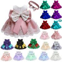 Girl Party Wedding Princess Bridesmaid Formal Dress Dresses Tutu Baby Kid Flower