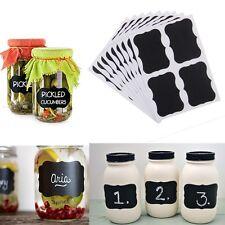 36x Kitchen Jar Labels Chalkboard Blackboard Chalk Board Stickers Decals Craft