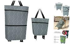 Grocery Cart With Wheels, Reusable Portable Collapsible Trolley Bags Hand