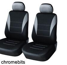 FRONT GREY BLACK FABRIC SEAT COVERS FIAT PANDA STILO GRANDE PUNTO 500 BRAVO MPV