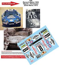 DECALS 1/18 REF 439 ALPINE RENAULT A110 NEYRET RALLYE MAROC 1975 RALLY WRC
