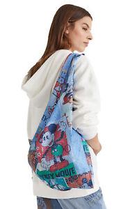 Desigual Denim Mickey Argelia Lightweight Shoulder Bag Style 21WAXAX2