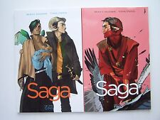 Brian Vaughan Saga Comic Book Series Vol 1 & 2 Lot