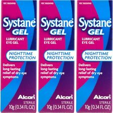 03 PACK Systane Gel Nighttime Protection Eye Lubricant  0.34 fl oz Exp 08/21 NEW