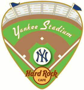 Hard Rock Cafe New YORK Yankee Stadium 2020 stadium Field Pick PIN New on Card