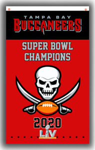 Tampa Bay Buccaneers Champions 2020 Football Team Flag 90x150cm3x5ft best banner