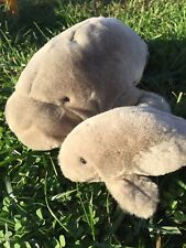 Mother And Baby Stuffed Manatee Toy Plush Toy