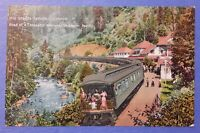 Vintage 1910's Photo Postcard Shasta Springs California Southern Pacific RR