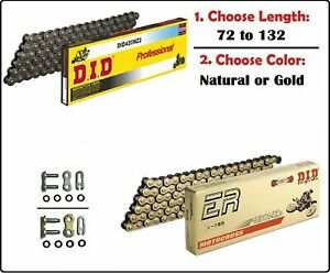 D.I.D DID 420 NZ3 Non Oring Drive Chain Natural or Gold with Clip Master Link