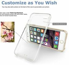 2015  for apple iPhone 6 PLUS  Transparent CLEAR TPU SKIN SOFT GEL COVER CASE