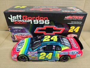 1996 Jeff Gordon #24 DuPont / Chevy 400th Win CC 1:24 NASCAR Action Club Car MIB