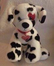 "Build A Bear Dalmation Dog Black White Plush Stuffed Animal 12"" Tall"