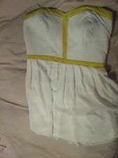 Portmans Lime Green White Cocktail Wedding Work Party Dress Size14
