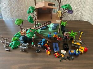 Playmobil Tree House 5746 Off-Road Motorbike 3222 & Park Ranger Used
